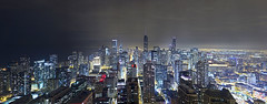 The Loop in Downtown Chicago (nikokaps) Tags: panorama chicago rooftop skyline architecture night downtown