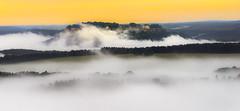 Mystical Fortress (redfurwolf) Tags: morning mist clouds sunrise germany europe saxony sachsen fortress schsischeschweiz knigstein saxonswitzerland sonyalpha redfurwolf