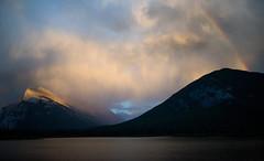 Mt Rundle and Rainbow (Robert Ron Grove 2) Tags: canada clouds rainbow banff rundle robertgrove