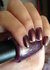 OPI Movin' Out over Marc Jacobs 200 Blacquer 3 (jRoxy13) Tags: marcjacobs opi nailpolish shimmer duochrome multichrome holidayonbroadway rainbow pink blacquer black