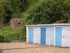 St. Margaret's Bay - Kent (jcbkk1956) Tags: kent stmargaretsbay nikon coolpix4300 huts seaside beachhuts concrete pillbox defences trees worldtrekker