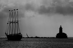 Safe Anchor (Nick Fewings 4.5 Million Views) Tags: noiretblanc schwarzundweiss bw blackandwhite usa illinois chicago nickfewings yacht sails water sea boat 2016