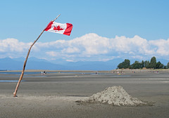 Parksville Beach on Vancouver Island, Canada (Tamas V) Tags: parksville vancouverisland vancouver island britishcolumbia beach park bc british columbia canada coastmountains sunshinecoast sunshine coast mountains mountain ocean pacificocean nanaimo victoria outdoor cloud blue sand sandy lowtide low tide sandybeach flag canadia canadianflag mapleleaf maple leaf vacation vacationing travel traveling travelling landscape panorama bokeh olympus oly getty images gettyimages stockphotograph stockphotography gettystock istock nature natural beautiful beauty omd em5 m42 adapted jupiter 37a 135mm soviet russian mft microfourthirds micro four thirds 43 m43 u43 fourthirds