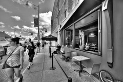 (Light Paintings by Dez) Tags: people streetphotography summer street downtown guelph ontario outdoor canada bw blackandwhite building architecture hdr design dez nikon nikond610 nikkor1424mm nikkor