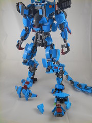 Crotch and chest armor removed (donuts_ftw) Tags: lego mecha mech moc darkazur scifi dracomech breakdown
