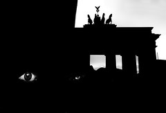 The eyes of Berlin (yoriyas) Tags: berlin germany eyes eye bw yoriyart yoriyas yassinealaoui brandenburg magnumphoto streetphotography street sureal shadow reflexion gate photography pictureoftheday