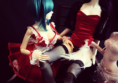 ... (zinery) Tags: abjd bjd asian ball jointed doll dollmore glamor eve body zaoll dreaming luv hbc story limited edition maid costume normal skin ns sd size girl marlene popodoll popo hongqu hong qu ws white red corset lingerie