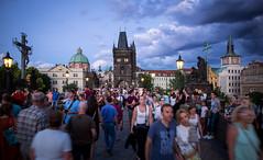 Crowd (Chris Buhr) Tags: prag praha prague charlesbridge karlsbrcke karlsbruecke menschen crowd touristen tourist leica mp chris buhr