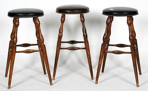 3 Virginia Craftsman Leather Top Bar Stools ($224.00)