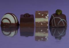 sunday sweets (Xtraphoto) Tags: praline pralinen reflection spiegelung vier four ss sses sweet sweets choc choco schoko schokolade art kunst fotokunst photoart