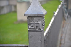 Swastika on Glyptotek fence 10-25-15 (THE Holy Hand Grenade!) Tags: swastika glyptotek copenhagendenmark nikond610 nikkor35105mm3545af geotagged