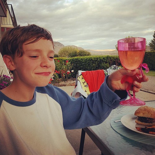 One of the many drinking vessels in action #yesitisapinkflamingoinplastic #noitisnotwine