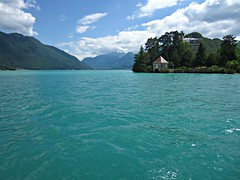 Lake Annecy (AmyEAnderson) Tags: outdoor pristine water lake annecy france europe rhonealps hautesavoie alps clear scenic landscape unspoiled depth peninsula
