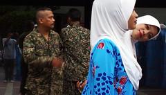 Malaysia 59th National Independence Day (Chot Touch) Tags: merdeka merdekasquare dataranmerdeka festivalofcolors ricohgxr malaysia kualalumpur selfportrait sehatisejiwa hijab