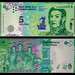 (ARS3a) 2016 Argentina: Banco Central de la República Argentina, Cinco Pesos (A/R)...