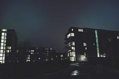(jean_pichot1) Tags: floors stairwell ice green backlit islandsbrygge copenhagen denmark sky glow lights windows apartments buildings blue winter dark night