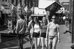 Red, Blonde and Brunette at the fair (Wookiee!) Tags: girl girls woman women pretty beauty feminine venus female young sexy redhead blonde brunette fair bw candid blackandwhite blackwhite strangers straatfotografie streetphotography street photograpy 35mm canon d550 dlsr light city urban life monochrome noir et blanc 073 shertogenbosch denbosch den bosch duketown noordbrabant brabant nl the netherlands holland dutch sneaky streetview centre zw human bossche kermis 2016 24 august wednesday zomer summer warm hot heet sunny zon wwwgevoeligeplatennl