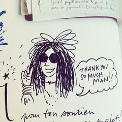 Janis Joplin - book signing (LookingforJanis) Tags: crowdfunding book signing drawing people janisjoplin ddicace dessin livre