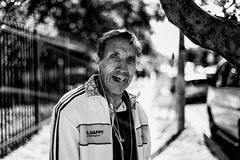 Mr. Happy (rosiebondi) Tags: street streetphotography blackandwhite bw monochrome sydney bondi australia leica portrait people