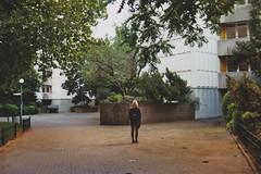 (felixmm.) Tags: felix machleid film minolta analog analogue minoltax700 minolta700 35mm vintage berlin gropius gropiusstadt architecture beton sunset skyscraper plattenbau hip vice vicemag hipster girl back black