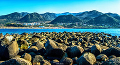 In the island (ily_dzn) Tags: island sea moutains blue rocks nikon d3200 nikonist world photography dslr canon nature summer sunlight sm ilyas lightroom photoshop processing