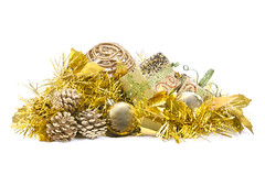 Christmas and New year decoration on white isolated background (davidherraezcalzada) Tags: christmas holiday background winter xmas decoration celebration seasonal festive season light shiny glitter abstract decorate snow ornament party color bauble bright ball celebrate group warm star merry noel december shine decorative new year decor copyspace colorful tradition pineapple golden gold yellow art pattern design elegant luxury metallic