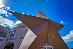 Star Statue in front of Bullock Museum, Austin TX (sbmeaper1) Tags: hdr austin bullock museum star statue