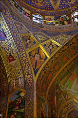 Vank Church (Poria) Tags: church iran architecture arch painting paint light column old christian color