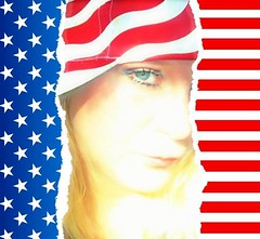 (Photosintheattic (Devy)) Tags: remembering911 woman usa self emotion flag world flickr torn
