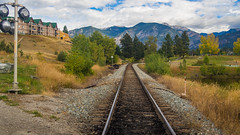Train tracks Invermere (ken.sparks33) Tags: invermere britishcolumbia canada tracks train fall colours colors mountains rockies track