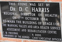 Another Plaque (damo2016 photos) Tags: another plaque wingham hospital drharris october1984 manningvalley healthservice 2016