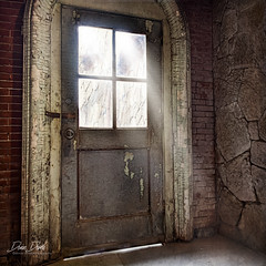 A an escape route (DeniseDewirePhotography) Tags: easternstatepenitentiary philadelphia grunge urbex chippedpaint furniture door lightstream pennsylvania cell