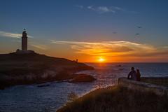 El Paraso existe (Emilio Rodrguez lvarez) Tags: corua landscape torre hercules sol puesta canon 2470 28 anochecer paisaje pano panoramica galicia spain espaa