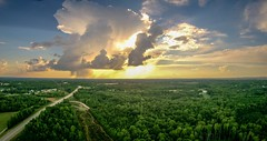 sky and clouds sunset landscape over york south carolina (AgFineArtPhotography.com) Tags: sky clouds sunset landscape over york southcarolina aerial flight nature beautiful summer high whiterose town country countryside road highway tres forest woods clover chester