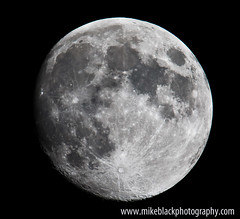 Almost Full Almost Blue Moon Canon 1D-X (Mike Black photography) Tags: new sky sun moon mike night lune canon eos noir earth neil science x jersey planets astronomy saturn dslr universe belmar armstrong lunar 1dx