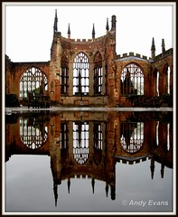 Coventry Cathedral (Andy the viking) Tags: reflection water coventry cathdral