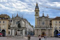 Piazza San Carlo, Torino (Luigi R. Viggiano) Tags: street city italy church monument torino turin piazzasancarlo