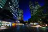 Day 241/366 : Blue Dots on the Ground (hidesax) Tags: blue sky building japan tokyo nikon shinjuku raw dusk ns hour nikkor hdr tocho d90 5xp nikond90 nikkor1424mmf28ged hidesax day241366bluedotsontheground