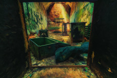 Furniture (dbnunley) Tags: door colors canon bed cabinet furniture pastel painted cell pillow prison photograph easternstatepenitentiary 60d