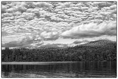 Long Pond B&W - Parsonsfield, ME (gastwa) Tags: summer sky bw cloud white lake black water clouds landscape 50mm pond nikon scenery 14 maine andrew full frame fullframe fx afs sensor d800 14g skancheli gastwirth d800e andrewgastwirth