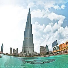 Burj Khalifa .. (ZiZLoSs) Tags: tower ex clouds mall dc dubai sigma fisheye khalifa f28 burj 10mm dubaimall zizloss sigma10mmf28exdcfisheye abdulazizalmanie canoneos600d