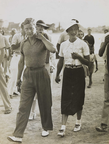 From flickr.com: King Edward VIII and Mrs Simpson on holiday in Yugoslavia, 1936. {MID-179354}