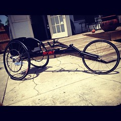 New TOP END Racing Wheelchair (HowiRolldotcom) Tags: wheelchair paraplegic paralysis topend wheelchairrugby racingwheelchair adaptivesports paratriathlon topendrims