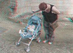 Loving grandmother 1 (katyfernleigh) Tags: 3d anaglyph stereo spm twincamera canona570 sdmsync