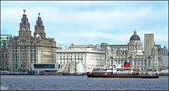On the waterfront ..Liverpool (Elaine 55.) Tags: ferry liverpool river cunard mersey liverbuilding portofliverpool