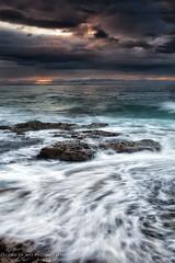 Bamburgh sunset (aland67) Tags: uk longexposure sunset seascape landscape tide northumberland runningwater bamburgh leendhard09