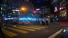 Crosswalk (jenschuetz) Tags: street nightphotography travel vacation holiday motion blur southeastasia driving traffic malaysia neonlights nightlife kualalumpur aroundtown kl overseas gettinouttadodge