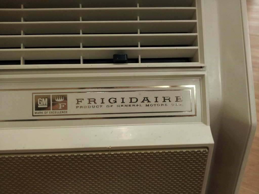 gm frigidaire inside logo the air conditioner guy tags old vintage gm air - Frigidaire Ac Unit