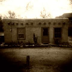 A House in Taos (mikerosebery) Tags: newmexico holga taos nm holgamod
