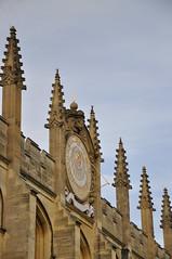 The Sundial (~Maninas) Tags: uk england college yellow stone architecture nikon christopher september sundial oxford wren allsoulscollege sir oxfordshire 2012 designed allsouls oxfordcollege sooc maninas d5000 oxfordopendoors september2012